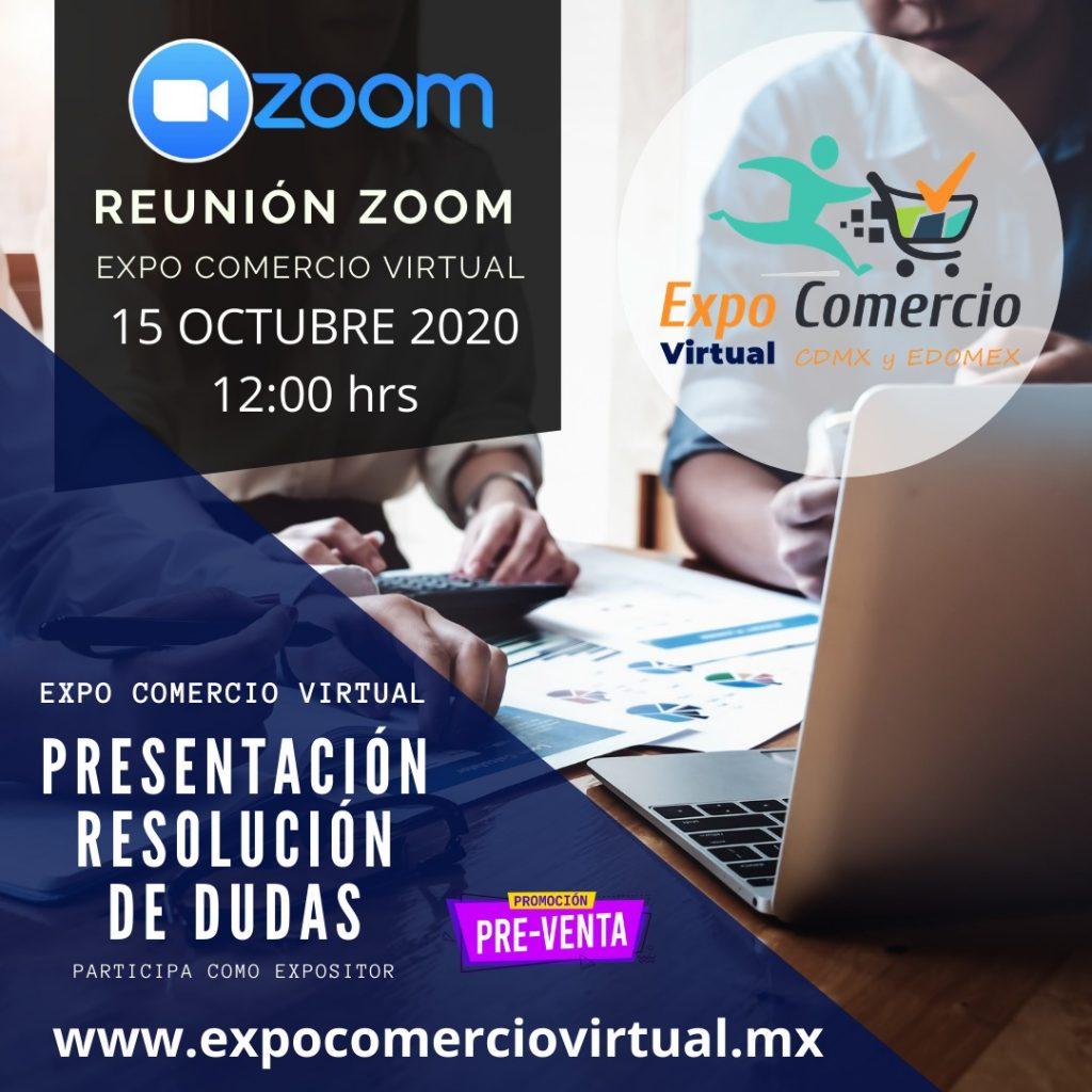 Sesión de ZOOM sobre Expo Comercio Virtual